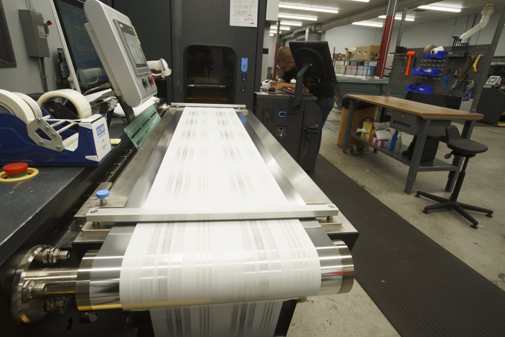 A digital label printing company working on specialty food labels.